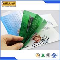 New design booklet&pamphlet label for printing extended label sticker