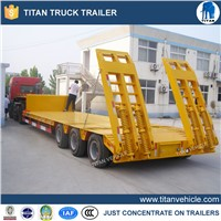 China manufacturer 3 axles 60 tons Low bed semi trailer