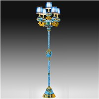 """Phoenix Legend"" Cloisonne Floor Lamp"