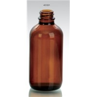 120ml amber glass bottle boston round pharma