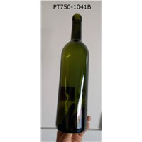 750ml wine glass bottle dark green