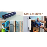 Glass and window protective film