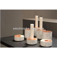 Marble Candle Holder, White Marble Home Decor
