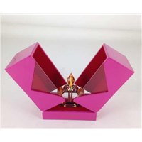 High Gloss Lacquer Finish  folding pink gift Wooden Perfume Box