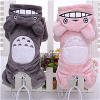 New Dog Pet Cat Costumes Fleece Warm Hoodie Coat Jumpsuit Four Leg Clothing