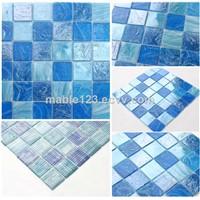 Swimming Pool Mosaic Melting Glass mosaic