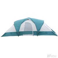 9-Person Three-Room Family Tent with Large D-style Door