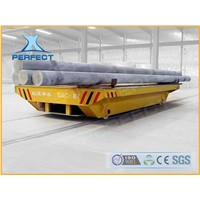 Large capacity rail transfer carriage for assembly line