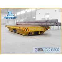 Heavy load rail transfer trolley with operation platform