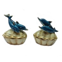 Dolphin jewellery box,made of polyresin