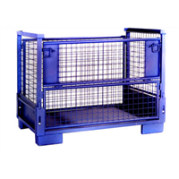 steel heavy duty stackable and foldable wire basket for auto industry