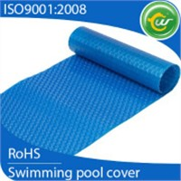 Inflatable swimming pool cover