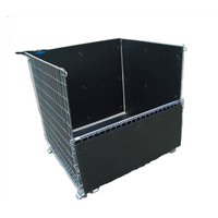 Warehouse fold stack galvanized zinc wire basket