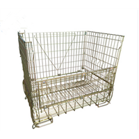 Euro welded stackable metal wire mesh container