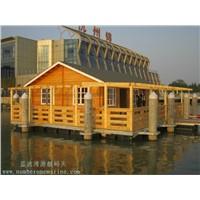 floating home,floating cottage,floating villa