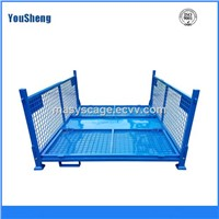 Heavy Duty Powder Coated Folding Wire Mesh Pallet Container for Sale