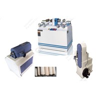Broom stick rounding machine