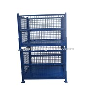 Industrial Wire Baskets/Mesh Box/Metal Pallet Cage Customized warehouse storage