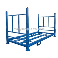 Powder Coated Metal Stacking Tire RPowder Coated Metal Stacking Tire Racks For Storage Warehouseacks