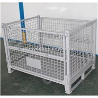 Customized Qualified Collapsible Rolling Metal Wire Mesh Storage Cage