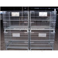 Adjustable Medium Duty Storage Galvanized Wire Mesh Container