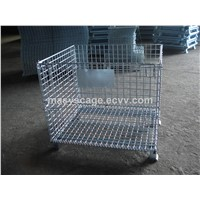 Collapsible Storage Welded Metal Wire Mesh Cage