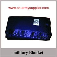 Wholesale Cheap China Wool Acrylic Polyester Military Blanket