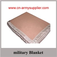 Wholesale Cheap China wool acrylic polyester  Army blanket