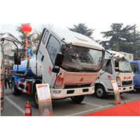 SINOTRUK HOWO 4X2 Suction Sewage Truck for sale-ZZ1007G3815D1