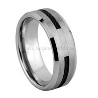 black wire tungsten carbide ring rope inlay tungsten ring