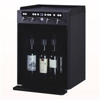 4 bottles wine cooler, wine dispenser