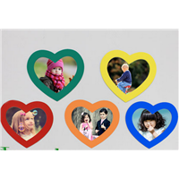 Heart-shaped  photo wall/fridge magnet photo/picture photo frames