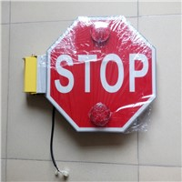 School bus folding stop sign used in America