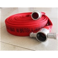 Red PVC Canvas Flat Lay Fire Hose