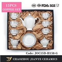 15pcs Bone China Tea Set coffee sets
