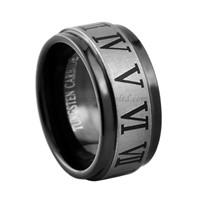 Men's Black Tungsten Ring Tungsten Carbide Ring