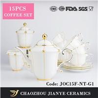 bone china tea set porcelain tea set gold decal