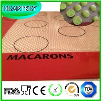 Macaroon Essential Tool Non-stick Silicone Baking Mat with Fiberglass