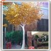 Guangzhou factory artificial golden tree plastic ficus tree