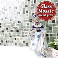 25x25mm Fashion style glass mosaic tiles for sale