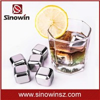 Stainless Steel Reusable Ice Cubes Drink Chillers Whiskey Ice