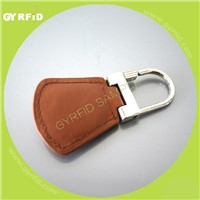 kel15 leather rfid key fob for door access control system(gyrfidstore)