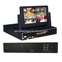 4CH H.264 all in one NVR with 7inch lcd Network digital Video Recorder HDMI Support