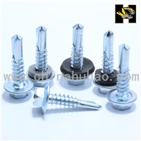 black epdm washer self drilling screws