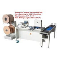 DCB-360 Sem-automatic Double Wire Binding Machine