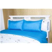 Embossed 4pcs Sheet set microfiber fabric polyester sheet set stock bedding set