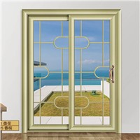High quality aluminum frame glass sliding door