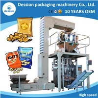 Nitrogen Filling Automatic Potato Chips Packing Machine