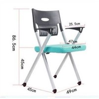 Stackable and Movable Office Chair with Folding Writing Pad