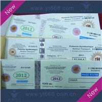 Anti-counterfeiting paper gift coupons
